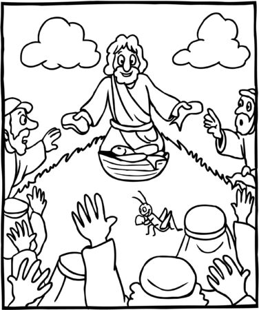 Coloring Page miracle of feeding the five thousand