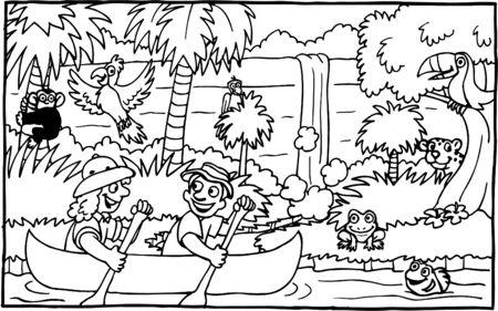 Jungle Adventure Illustration