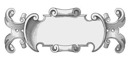 Retro banner vector