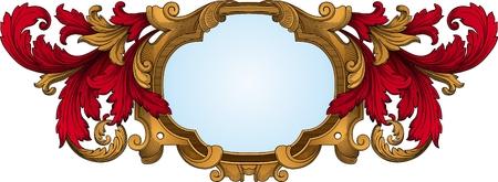 frame vector: Retro frame vector