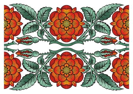 Flower decoration design elements
