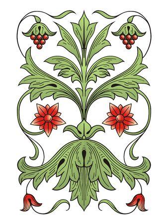 Flower decoration design elements Illustration