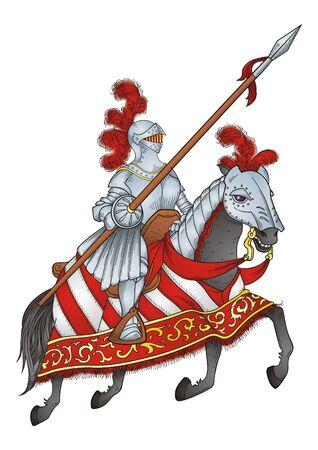 insignias: Caballero  Vectores