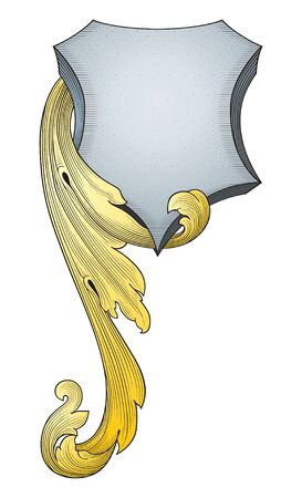 Retro shield  Illustration