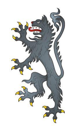 rampant: Heraldic Wolf