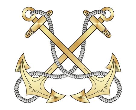 Gold anchors  Vector