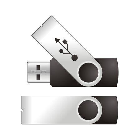 model Flash USB for your logo Illustration