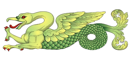 dragon calligraphy: Chinese Dragon