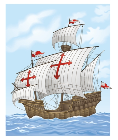 pirates flag design: Sailing vessel