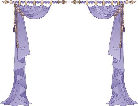 window curtains: Luxury Curtains  Illustration