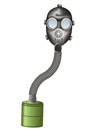 radiation suit: Gas mask vector