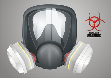 protective gloves: Gas mask vector