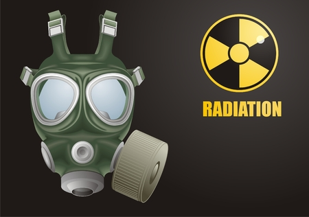 radiation pollution: Gas mask vector