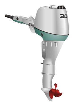 Boat engine vector Illustration