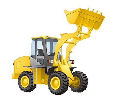 mining equipment: Excavator vector