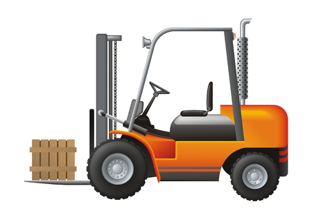 warehouse equipment: Loader vector Illustration
