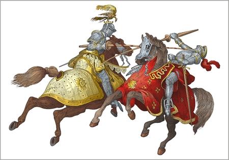 espadas medievales: Vector de torneo de caballeros