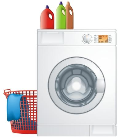 clothes washer: Lavadora Vectores
