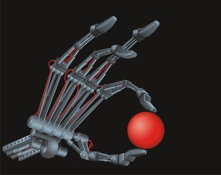 Terminator Hand  Vector