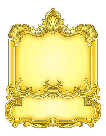 Gold Frame  Stock Vector - 8789282
