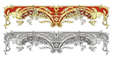 filigree: Ornament grens  Stock Illustratie