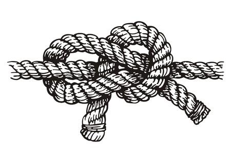 結び目: ロープ  イラスト・ベクター素材