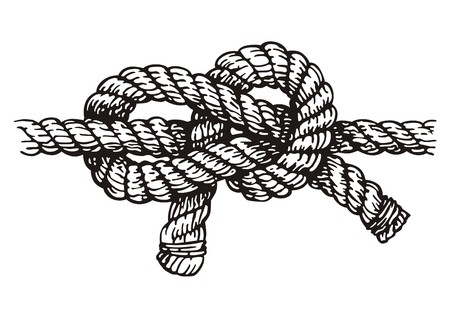 tied knot: Rope  Illustration