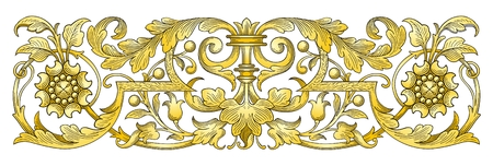 Gold Ornament Border  Vector