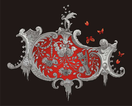 Red and Grey Royal Ornament