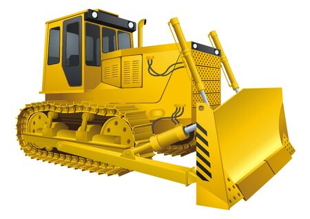 Bulldozer Stock Vector - 9082107