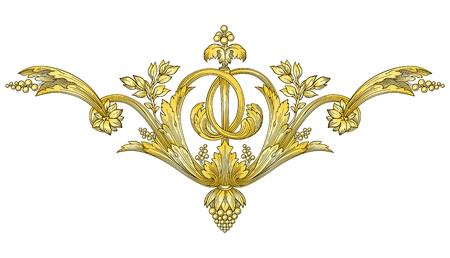 yellow jacket: Gold Ornament