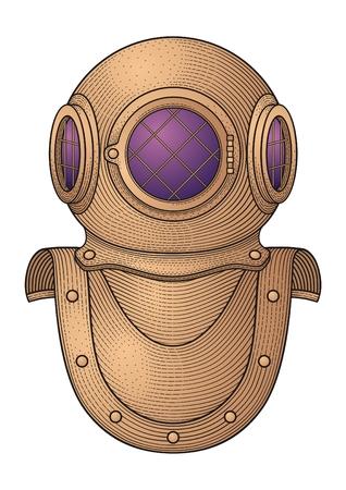Retro Diver Helmet
