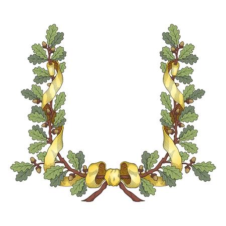Oak Wreath Stock Vector - 9082111
