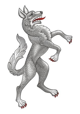 Rampant Wolf  Illustration
