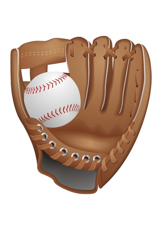 2 objects: Baseball Glove  Illustration