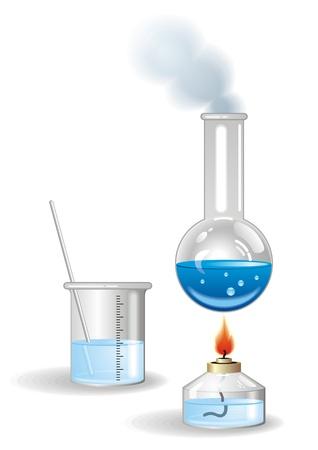 evaporacion: Frascos Vectores