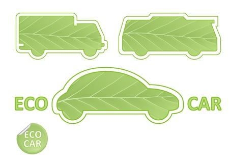 wasserstoff: Eco Auto-Embleme Illustration