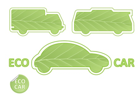 hydrogen: Eco Car Emblems  Illustration