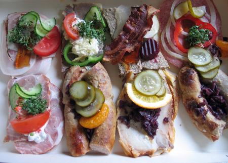 Smorrebrod Danish open face sandwich