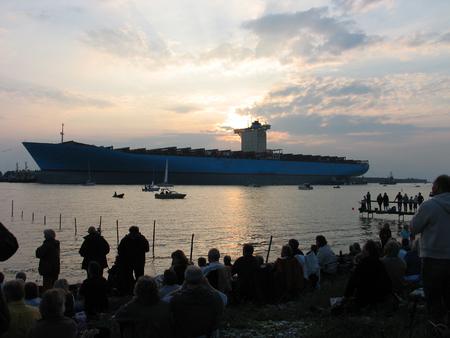 shipload: El contenedor m�s grande del mundo buque - laminaci�n ceremonia en Dinamarca