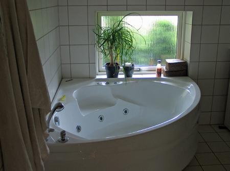 Bathtub jacuzzi in a modern design batroom