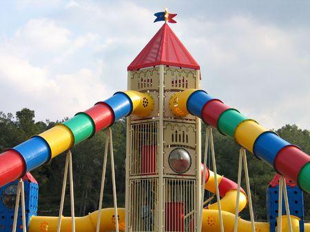 Modern design colorful playground photo