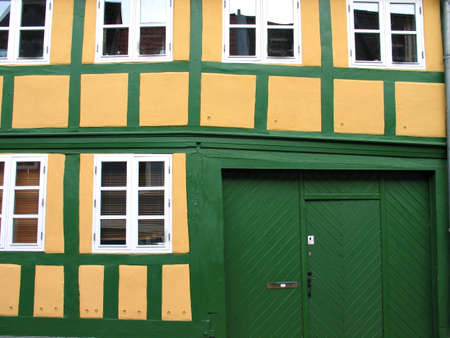 Details of a typical old city house Denmark Stock Photo - 2712020