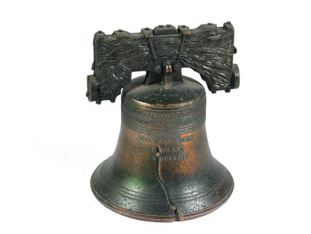 American Liberty Bell Philadelphia isolated  Stock Photo
