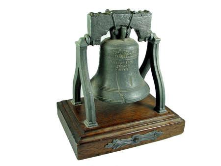Liberty Bell Philadelphia replica isolated  photo