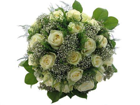 Beautiful wedding bouquet isolated on white