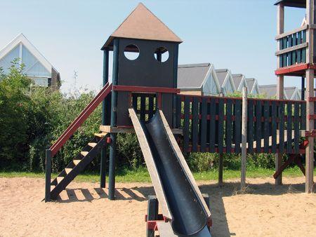 Modern design playground and slide facilities photo