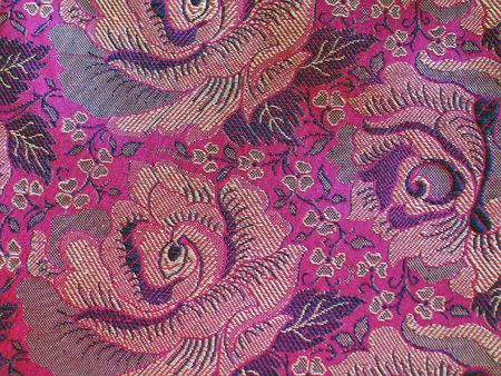 High Resolution Embossed Classical Fabric with Colorful Floral Pattern photo