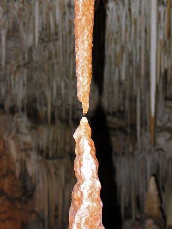 Close up formation of Stalactite and stalagmite