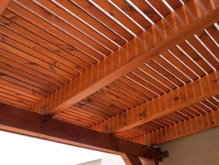 Classical design pergola arbor made of wood